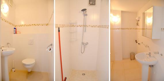 De toilet van het appartement van villa Kas di Bon Bida