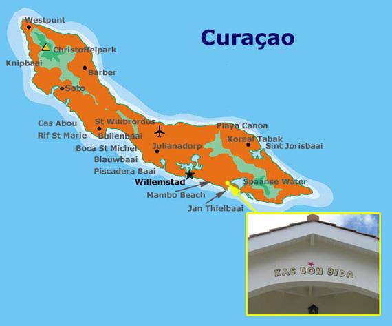 plattegrond Curacao
